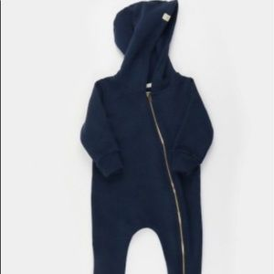 Mini Mioche One Pieces - Mini Mioche 'The Biker Romper' - navy